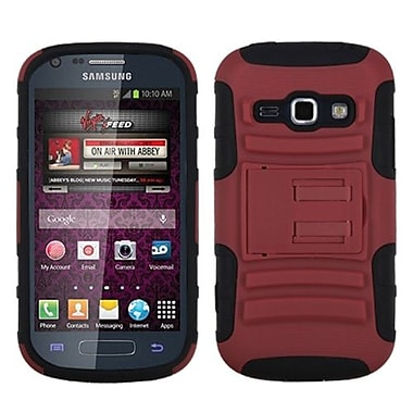 Insten® Advanced Armor Stand Protector Cover For Samsung M840, Red/Black