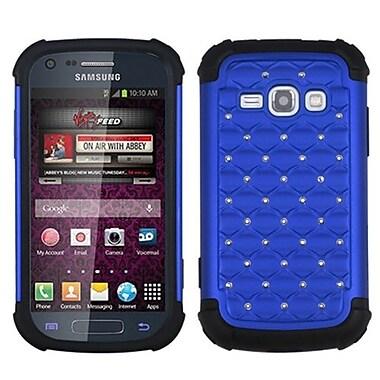 Insten® TotalDefense Luxurious Lattice Dazzling Protector Case F/Samsung M840, Dark Blue/Black