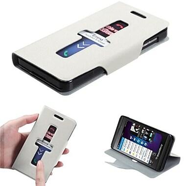 Insten® Premium Book-Style MyJacket Wallet For BlackBerry Z10, White