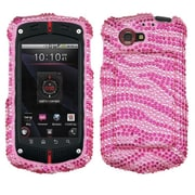 Insten® Diamante Protector Cover For CASIOC811 G'Zone Commando 4G, Pink/Hot-Pink Zebra