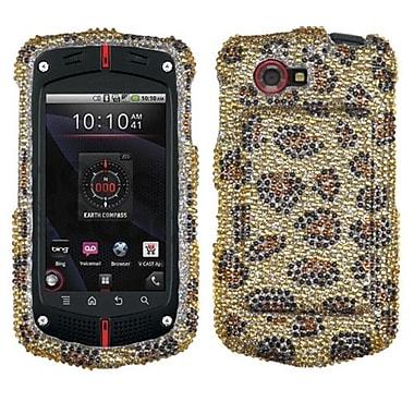 Insten® Diamante Protector Cover For CASIOC811 G'Zone Commando 4G, Leopard/Camel