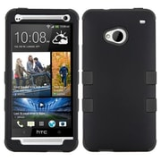 Insten® TUFF Hybrid Phone Protector Cover For HTC-One/M7, Black/Black
