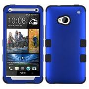 Insten® TUFF Hybrid Phone Protector Cover For HTC-One/M7, Titanium Dark Blue/Black