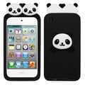 Insten® Peeking Pandas Pastel Skin Covers For iPod Touch 4th Gen