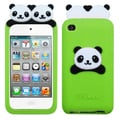 Insten® Peeking Pandas Pastel Skin Cover For iPod Touch 4th Gen, Electric Green