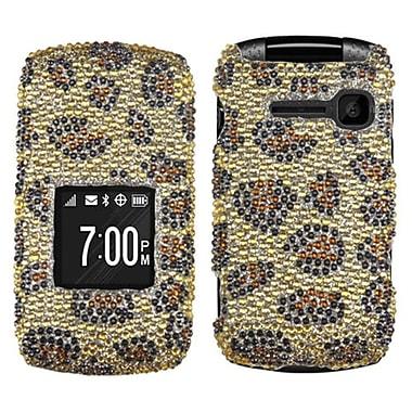 Insten® Diamante Protector Cover For Kyocera C2150, Leopard Skin/Camel