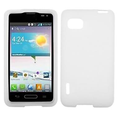 Insten® Skin Cover For LG VM720 Optimus F3/LS720 Optimus F3, Solid Translucent White