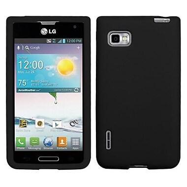 Insten® Skin Case For LG MS659 Optimus F3, Solid Black