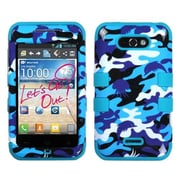 Insten® Phone Protector Cover For LG MS770 Motion 4G/Optimus Regard, Aquatic Camouflage/Tropical Teal