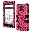 Insten® TUFF Hybrid Phone Protector Cover F/LG P769 Optimus L9, Pink/Black Leopard