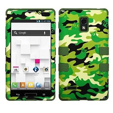 Insten® TUFF Hybrid Phone Protector Cover F/LG P769 Optimus L9, Green Woodland Camo/Army Green