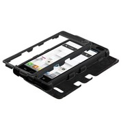 Insten® TUFF Hybrid Phone Protector Case For LG P769, Black/Black