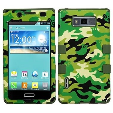 Insten® TUFF Hybrid Phone Protector Cover F/LG US730 Splendor, Green Woodland Camo/Army Green