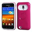Insten® Back Protector Cover W/Ring Stand F/Samsung D710, R760, Galaxy S II 4G, Hot-Pink/White