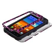 Insten® Diamante Hybrid Case F/Samsung D710, R760, Galaxy S II 4G, Zebra Skin 2D Silver/Black