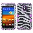 Insten® Diamante Hybrid Case F/Samsung D710, R760, Galaxy S II 4G, Zebra/Electric Purple