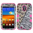 Insten® Diamante Hybrid Case F/Samsung D710, R760, Galaxy S II 4G, Hottie/Electric Pink