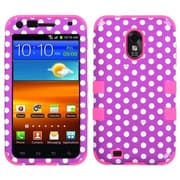 Insten® TUFF Hybrid Phone Protector Cover For Samsung D710, R760, Dots/Electric Pink