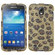 Insten® Diamante Protector Case For Samsung i537 (Galaxy S4 Active), Leopard Skin/Camel