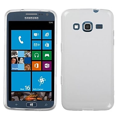 Insten® Rubberized Candy Skin Case For Samsung i800 ATIV S Neo, Semi Transparent White