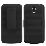 Insten® Rubberized Hybrid Holster For Samsung Galaxy S4 Mini, Black