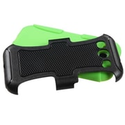 Insten® Frosted Fusion Protector Case For Samsung Galaxy SIII, Natural Black/Electric Green