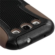 Insten® Frosted Fusion Protector Case For Samsung Galaxy SIII, Natural Black/Brown