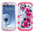 Insten® Hybrid Phone Protector Case For Samsung Galaxy SIII, Morning Petunias/Electric Pink