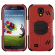 Insten® Hybrid Protector Case With Stand For Samsung Galaxy S4, Natural Red/Black Beehive Barrier
