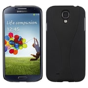 Insten® Rubberized Phone Back Protector Cover For Samsung Galaxy S4, Black/Black Wave