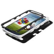 Insten® Rubberized TUFF Hybrid Phone Protector Case For Samsung Galaxy S4, Black/Solid White
