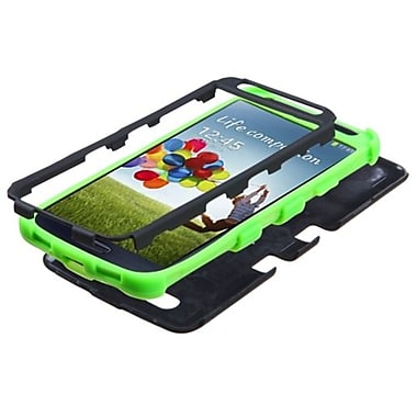 Insten® TUFF Hybrid Phone Protector Case For Samsung I337 Galaxy S4, Black/Electric Green