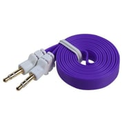 Insten® 1.2m Noodle Audio Cables With 3.5 to 3.5 Plug, Purple