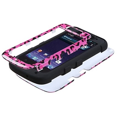 Insten® TUFF Hybrid Protector Cover For ZTE-N9120 Avid 4G, Pink Leopard/Black