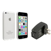 Insten® 1388399 2-Piece iPhone Travel Charger Bundle For Apple iPhone 5C