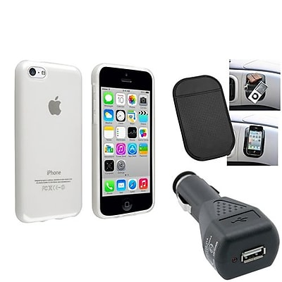 Insten 1388412 3-Piece iPhone Car Charger Bundle For Apple iPhone 5C