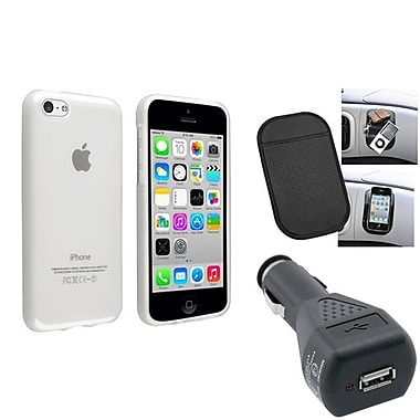 Insten® 1388412 3-Piece iPhone Car Charger Bundle For Apple iPhone 5C