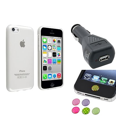 Insten 1388421 3-Piece iPhone Car Charger Bundle For Apple iPhone 5C