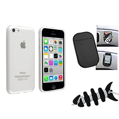 Insten 1388446 3-Piece iPhone Headset Smart Wrap Bundle For Apple iPhone 5C