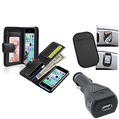 Insten 1389328 3-Piece iPhone Car Charger Bundle For Apple iPhone 5C