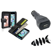 Insten® 1389356 3-Piece iPhone Car Charger Bundle For Apple iPhone 5C