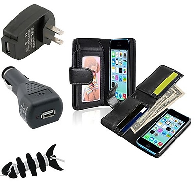 Insten 1389357 4-Piece iPhone Car Charger Bundle For Apple iPhone 5C