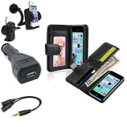 Insten® 1389382 4-Piece iPhone Car Charger Bundle For Apple iPhone 5C