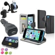 Insten® 1389426 4-Piece iPhone Car Charger Bundle For Apple iPhone 5C