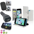 Insten® 1389511 4-Piece iPhone Car Charger Bundle For Apple iPhone 5C