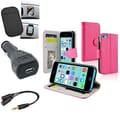 Insten® 1389714 4-Piece iPhone Car Charger Bundle For Apple iPhone 5C