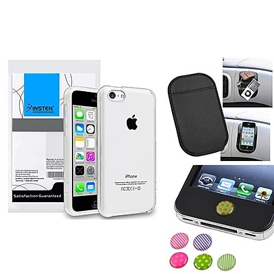 Insten 1390328 3-Piece iPhone Case Bundle For Apple iPhone 5C, Apple iPhone\/iPad\/iPod Touch