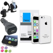 Insten® 1390329 4-Piece iPhone Car Charger Bundle For Apple iPhone 5C