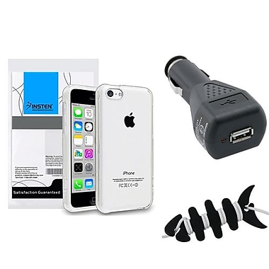 Insten® 1390341 3-Piece iPhone Car Charger Bundle For Apple iPhone 5C