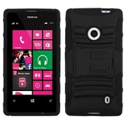 Insten® Advanced Armor Stand Protector Case For Nokia 521, Black/Black